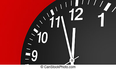 Clock Almost Midnight Time Concept