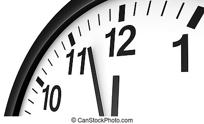 Clock Almost Midnight Time