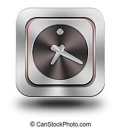Clock aluminum glossy icon