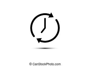 clock an arrow icon