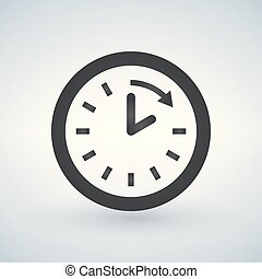 Clock and arrow icon. Time design. vector graphic