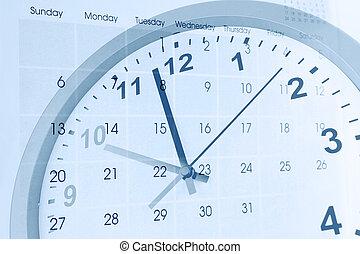 Clock and calendar