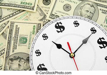 clock and dollars