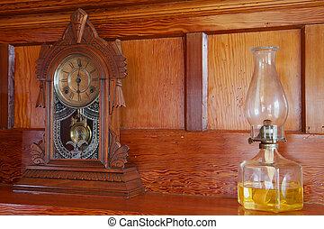 Clock and Lamp