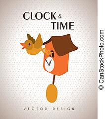 time design over beige background vector illustration