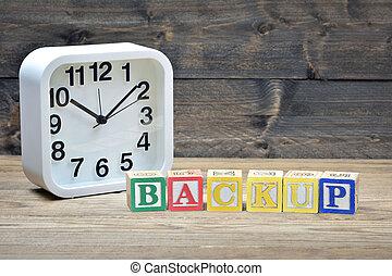 Clock and word backup