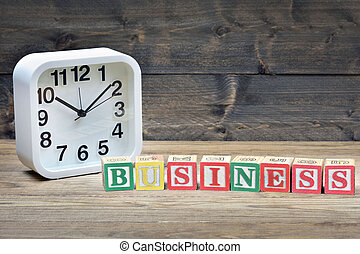 Clock and word business