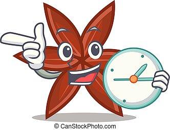 Clock anise character cartoon style