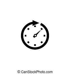 Clock Arrow Flat Vector Icon