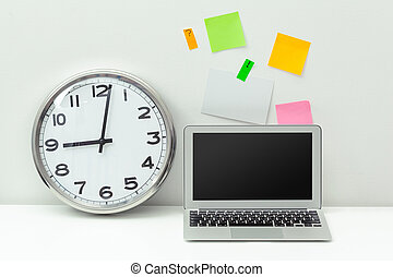 Clock at an office tablee