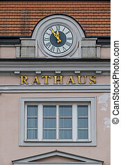 clock at the city hall,