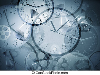 Clock background - Background with clocks that mark many...