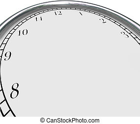 Clock Background Time Concept Blank Copy Space Your Message