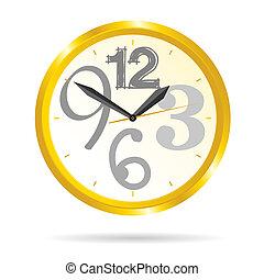clock beauty vector illustration