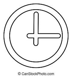 Clock black color icon .