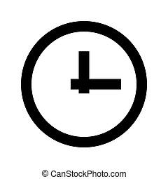 Clock black icon .