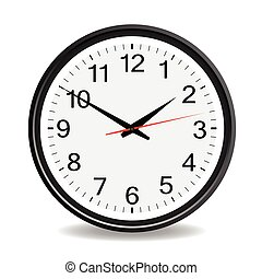 clock black vector illustration