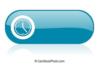 clock blue web glossy icon