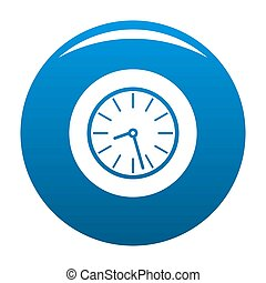 Clock business icon blue