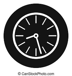 Clock business icon, simple black style