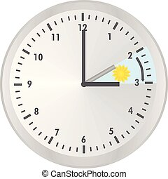 Clock change. vector illustration