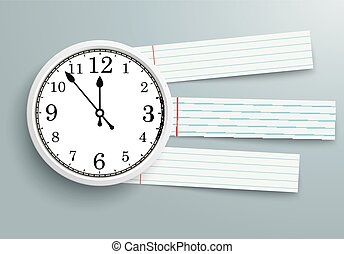 Clock checked Paper Striped Lines - Clock with striped lines...
