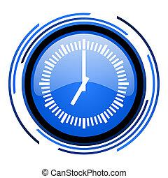 clock circle blue glossy icon
