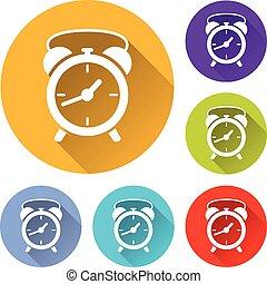 clock circle icons set