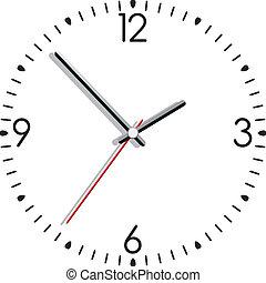 clock - vector illustration of a clock