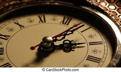 Clock close up footage