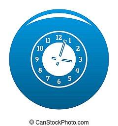 Clock concept icon blue