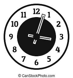 Clock concept icon, simple black style