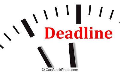 Clock countdown to deadline