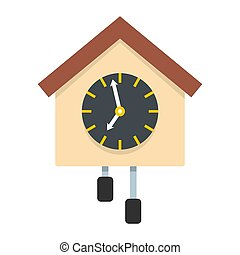 Clock creative icon, flat style