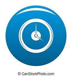 Clock deadline icon blue