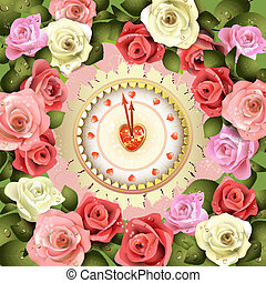Clock design for Valentine's day