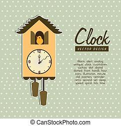 time design over dotted background vector illustration