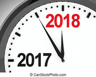 Clock dial 2017-2018 - Black clock with 2017-2018 change...