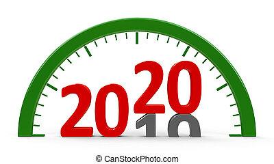 Clock dial 2020, half