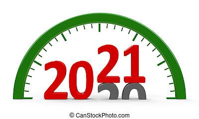 Clock dial 2021, half