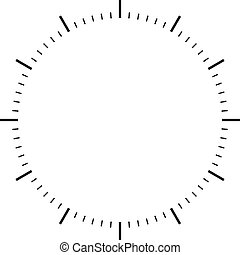 clock dial black signs