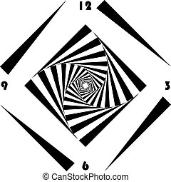 clock dial black triangle signs with rounded number