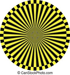 clock dial black yellow signs target perspective