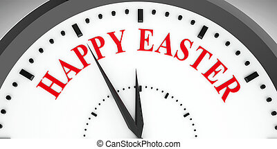 Clock dial Happy Easter