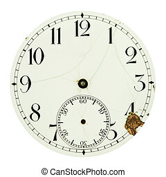 Clock dial isolated on white - Clock dial face isolated on...