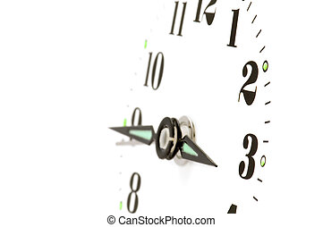 clock dial macro - object on white - clock face macro