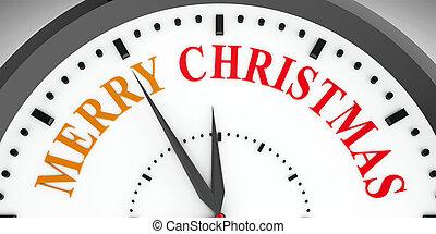 Clock dial Merry Christmas