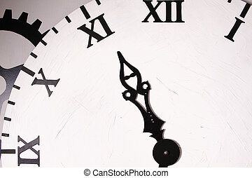 Clock dial - Close-up of a clock face. Background