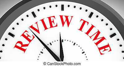Clock dial Review time - Black clock with Review time,...
