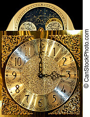 Clock dial - Old wall clock with astrology star details